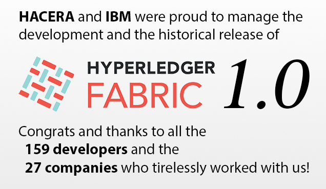 Hyperledger Fabric 1.0 is Released!